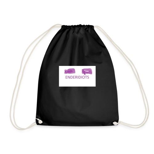 enderproductions enderidiots design - Drawstring Bag