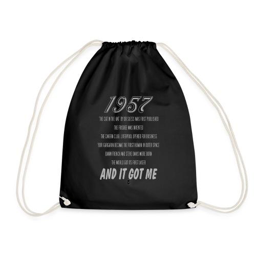 1957 60th birthday - Drawstring Bag