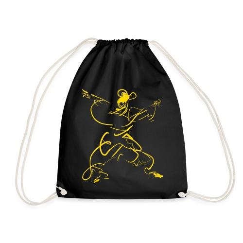 Kungfu figure - Drawstring Bag