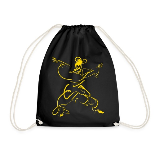 Kungfu figure - Drawstring Bag