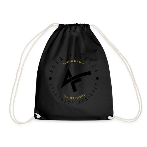 Aura Fitness WHITE/WHITE - Drawstring Bag