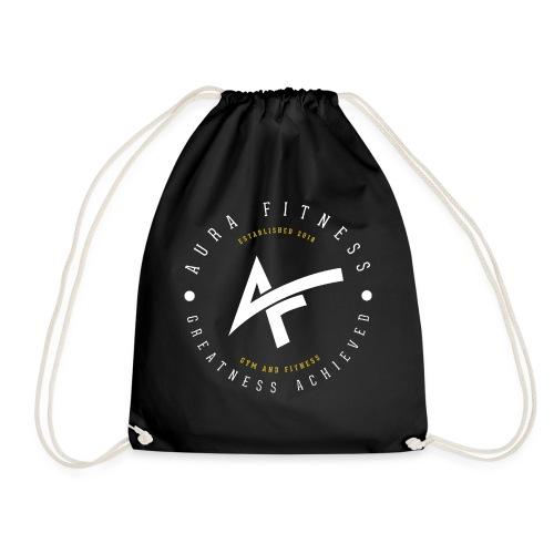 Aura Fitness BLACK/BLACK - Drawstring Bag