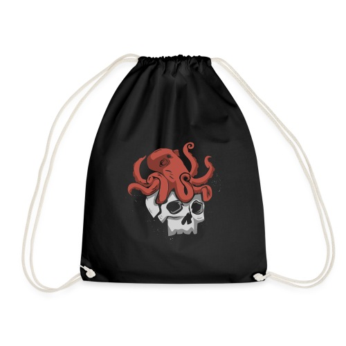 Skull and Octopus Heavy Metal Fans Novelty Gift - Drawstring Bag