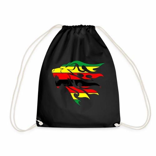 zimbabwe flag lion - Drawstring Bag