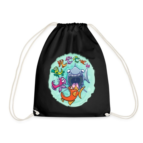 Big fish eat little fish and vice versa - Drawstring Bag