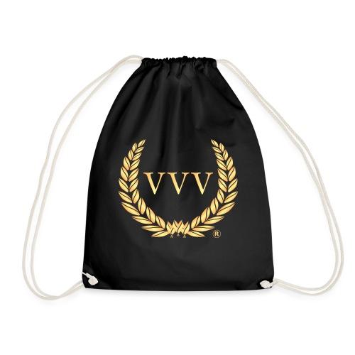 Black & Gold Team VVV (Small Logo) - Drawstring Bag