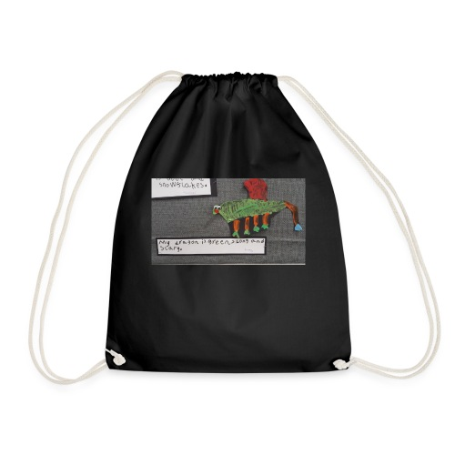 Green long and scary - Drawstring Bag