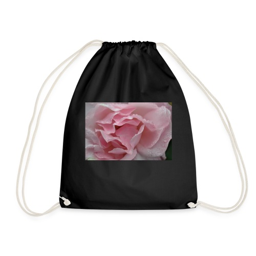 Water Droplet Rose - Drawstring Bag