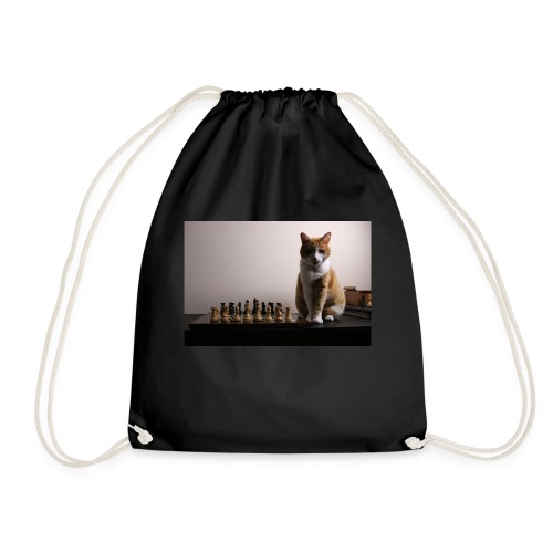 Charlie and his chess board - Drawstring Bag