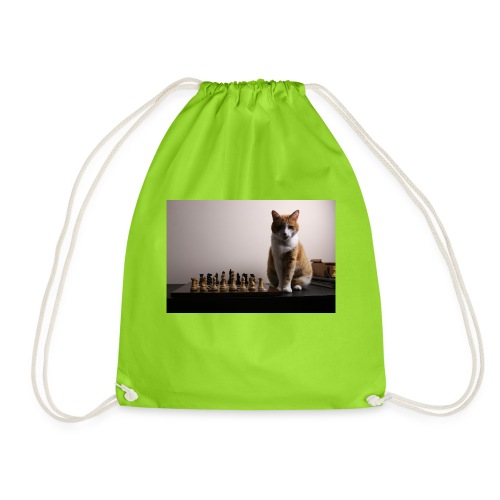 Charlie and his chess board - Drawstring Bag