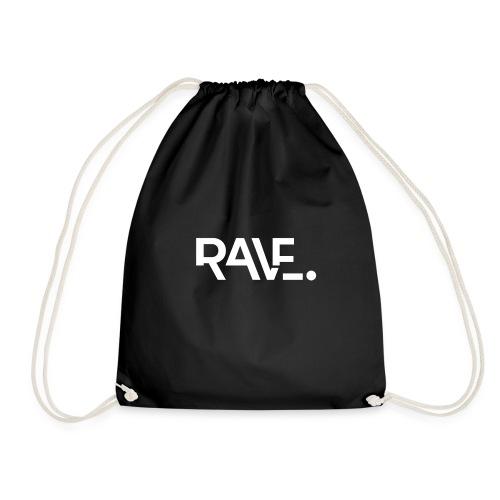 RAVE ClothingWhiteLogo - Drawstring Bag