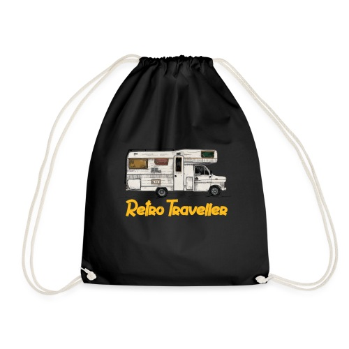 Retro Traveller - Drawstring Bag