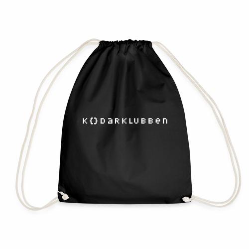The Kodarklubben mörka produkter med vit logotyp - Drawstring Bag