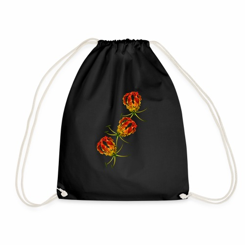 Flame Lily x 3 - Drawstring Bag