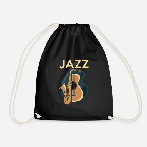 Jazz Gitarre mit Saxophon - Turnbeutel