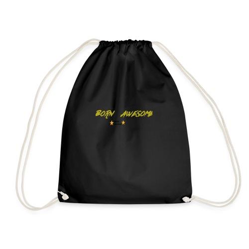 born awesome - Drawstring Bag