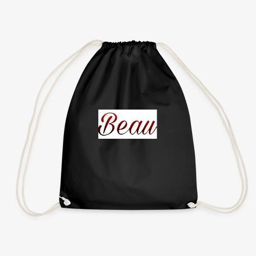 itzBeau Beau with white background - Drawstring Bag