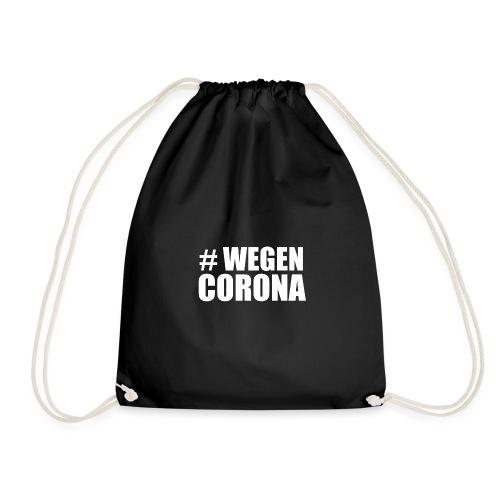 # WEGEN CORONA (weiß) - Turnbeutel