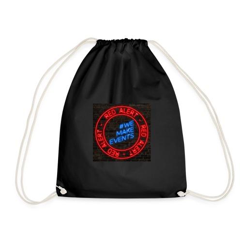 Red Alert Neon Bricks 02 - Drawstring Bag