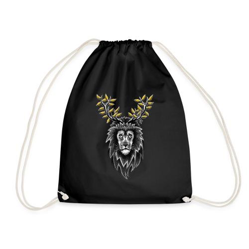 Deer Lion - Drawstring Bag