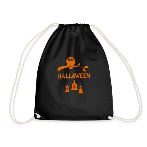 Spooky Halloween mit Eule - Turnbeutel