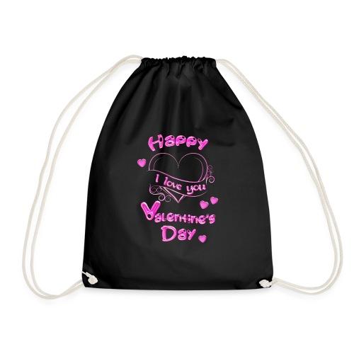 Happy Valentines Day Valentinstag in pink - Turnbeutel