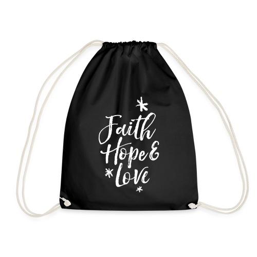faith hope love frühling - Turnbeutel