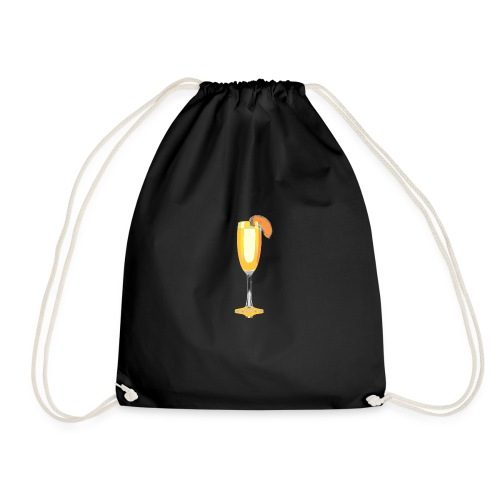 bellini cocktail - Drawstring Bag