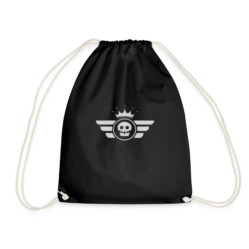 Grey logo - Drawstring Bag