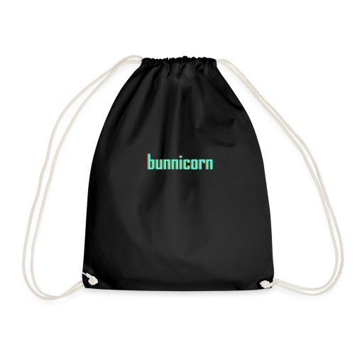 Triple colour Bunnicorn embroidery - Drawstring Bag