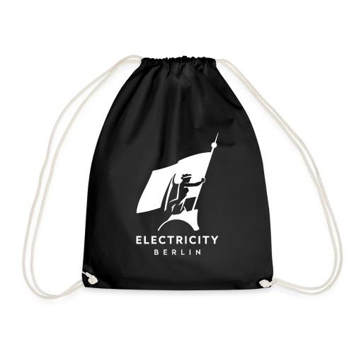 Electricity Logo Weiß - Turnbeutel