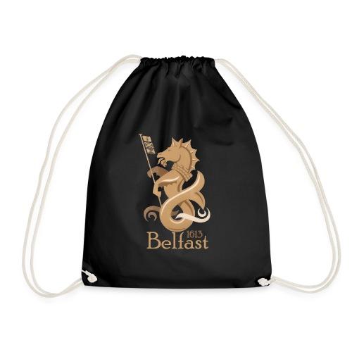 Belfast 1613 Seahorse - Drawstring Bag
