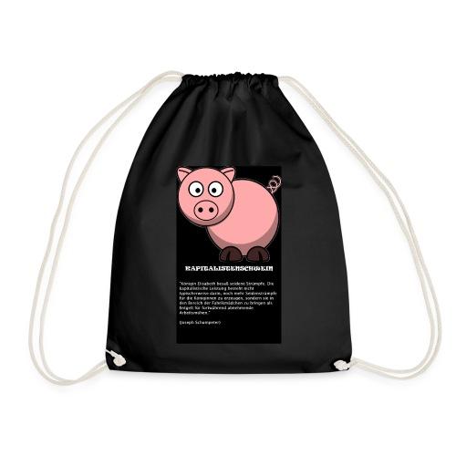 Kapitalismus Schwein - Turnbeutel