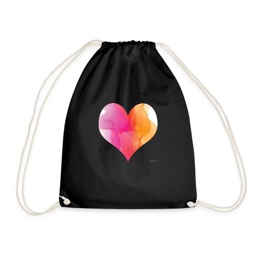 Love Heart Design - Drawstring Bag