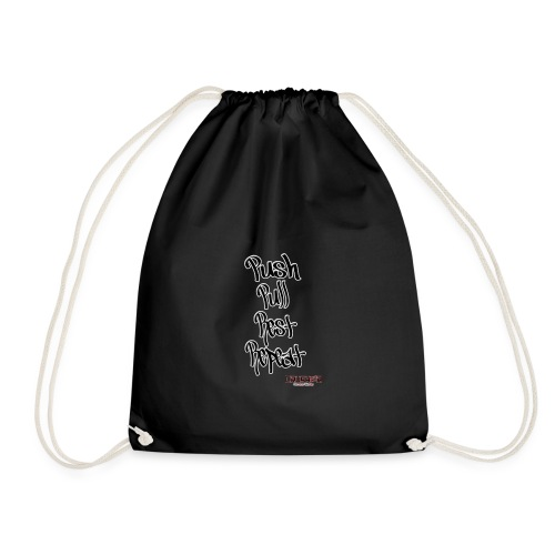 Push pull rest repeat design - Drawstring Bag