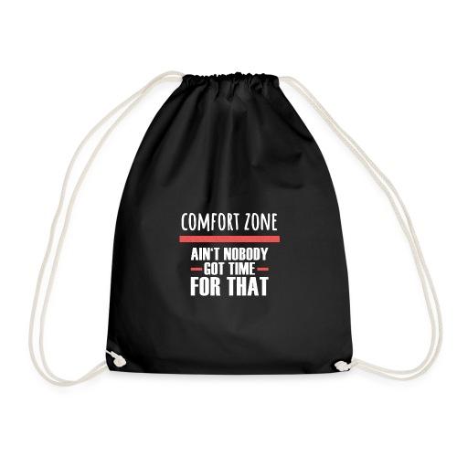 Komfort Zone Entwicklung Geschenk Herausforderung - Turnbeutel