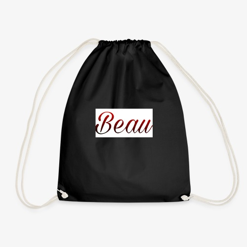 itzBeau Beau with white background - Drawstring Bag