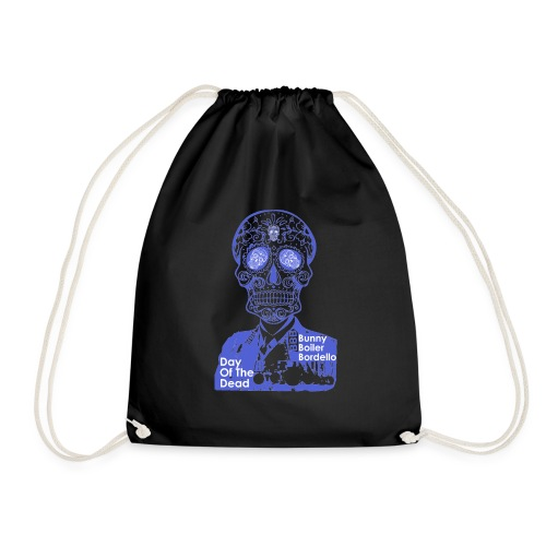 BBB-Day-Of-The-Dead-Blue - Drawstring Bag