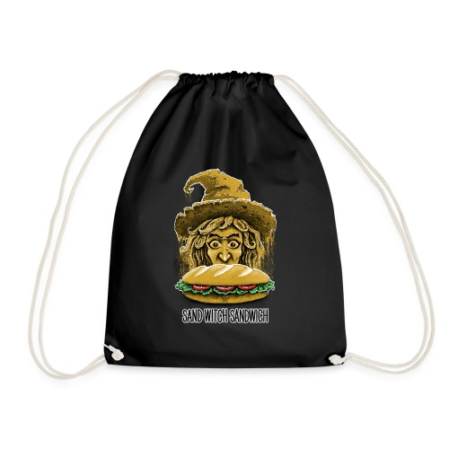 Sand Witch Sandwich V1 - Drawstring Bag