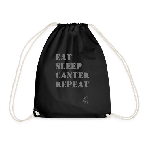 Eat Sleep Canter Repeat - Pferd Reiten VECTOR - Turnbeutel