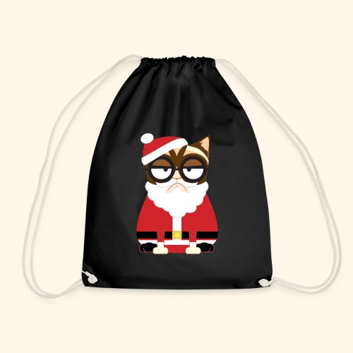 Santa Claus Cat - Drawstring Bag