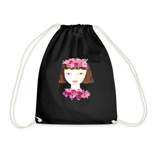 Flower Power Girl - Turnbeutel