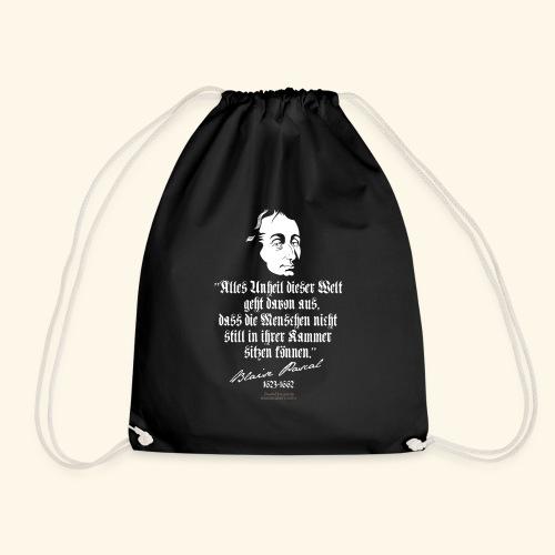Zitat T Shirt Blaise Pascal - Turnbeutel