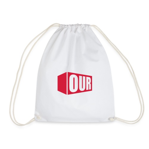 OOR Logo stacked neg - Drawstring Bag