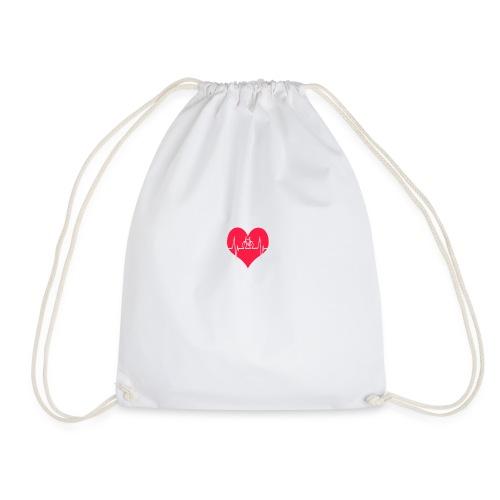 I love my Bike - Drawstring Bag