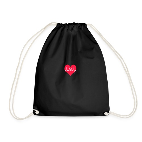 I love my Bike - Drawstring Bag