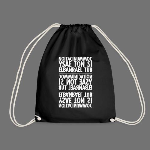 communication white sixnineline - Drawstring Bag