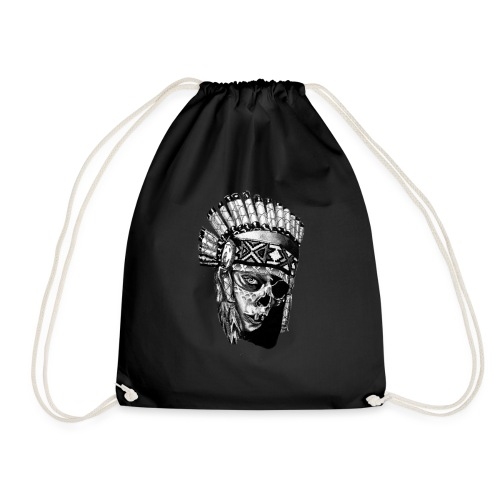 Indian Skull - Drawstring Bag