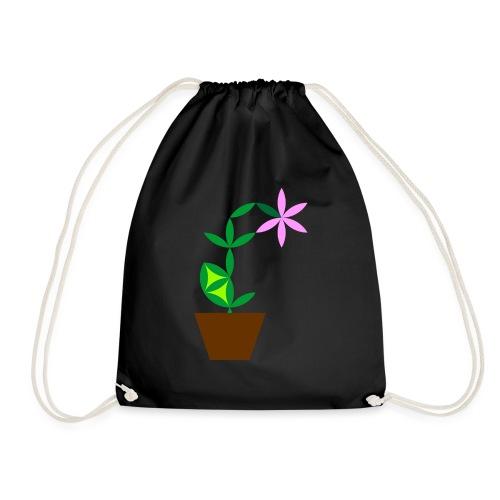 The Flower Of Life - Sacred Plants. - Drawstring Bag