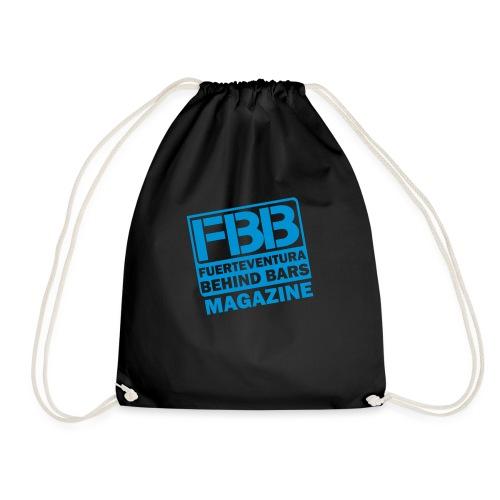 BLACK SIMPLE small logo - Drawstring Bag